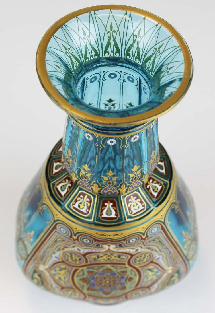 J. & L. Lobmeyr Vienna art glass enameled vase - 2
