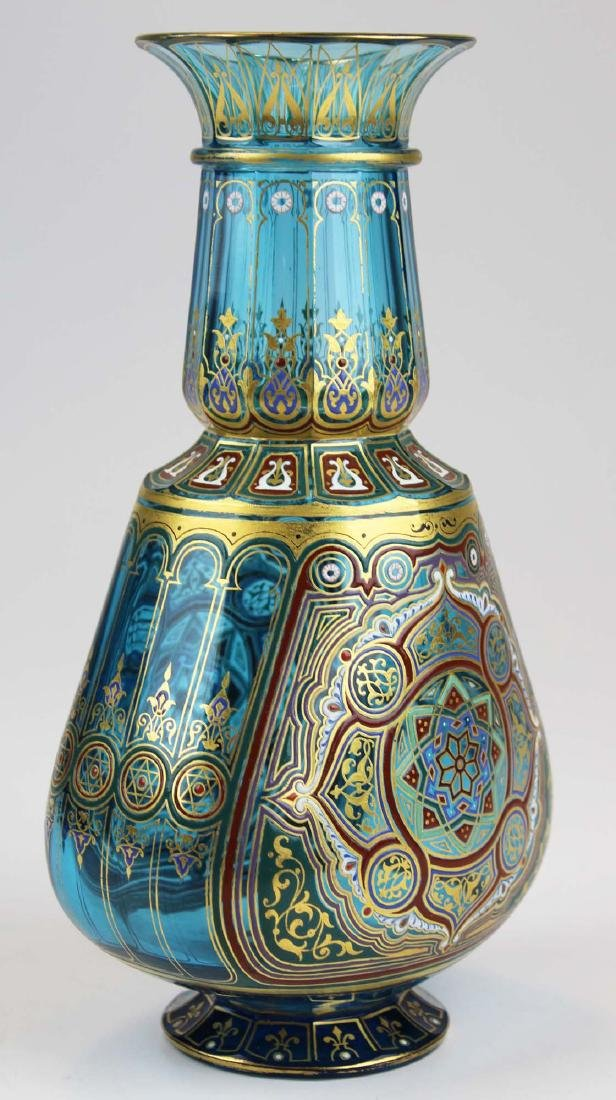 J. & L. Lobmeyr Vienna art glass enameled vase - 4