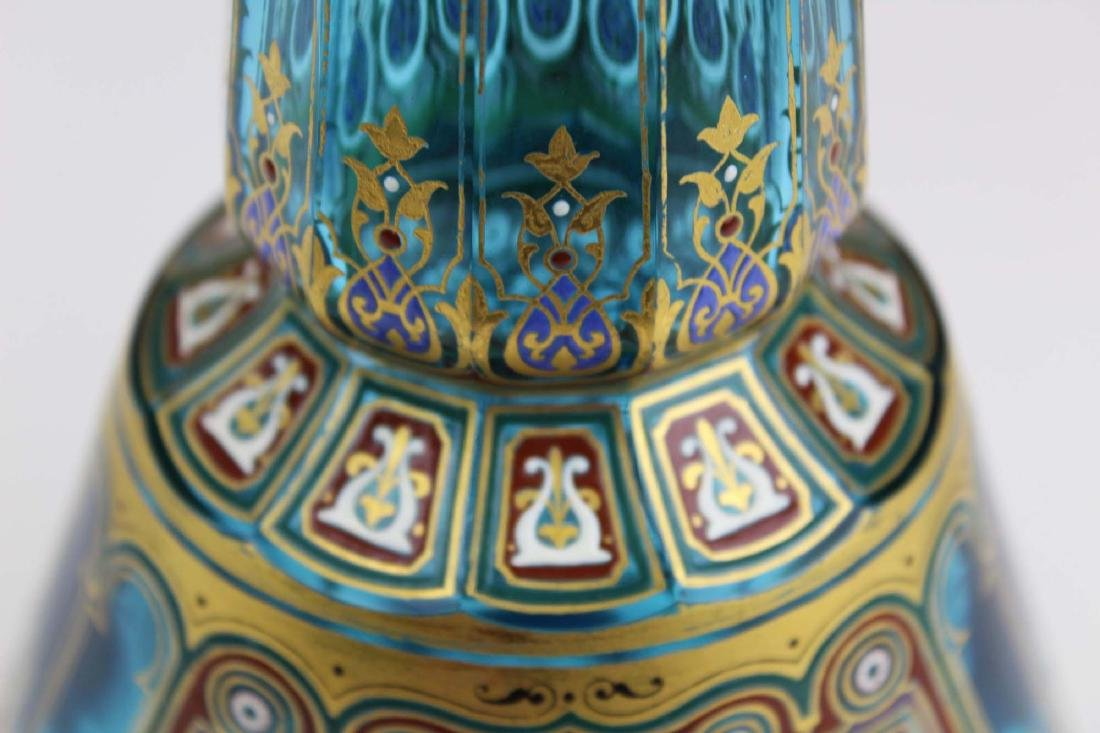 J. & L. Lobmeyr Vienna art glass enameled vase - 9