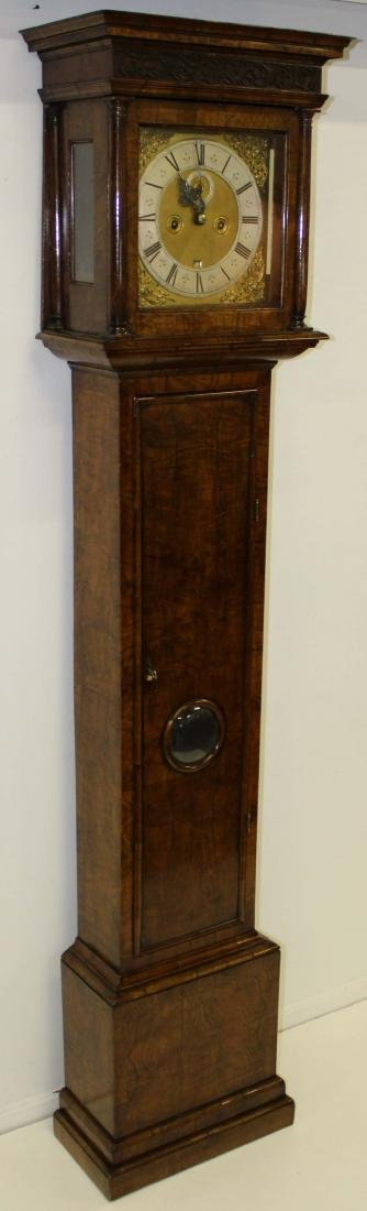Late 17th c John Hebert tall case clock