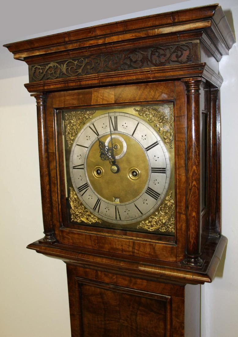 Late 17th c John Hebert tall case clock - 2