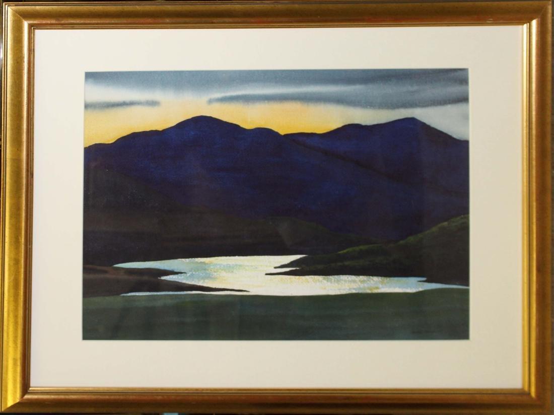 Walton Blodgett (VT 1908-1963) Lake at sunset