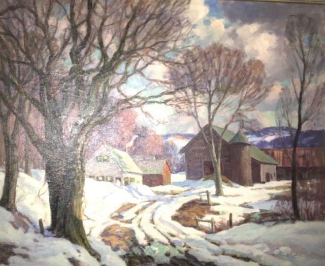 Thomas R Curtin (VT 1899-1977) Winter Road