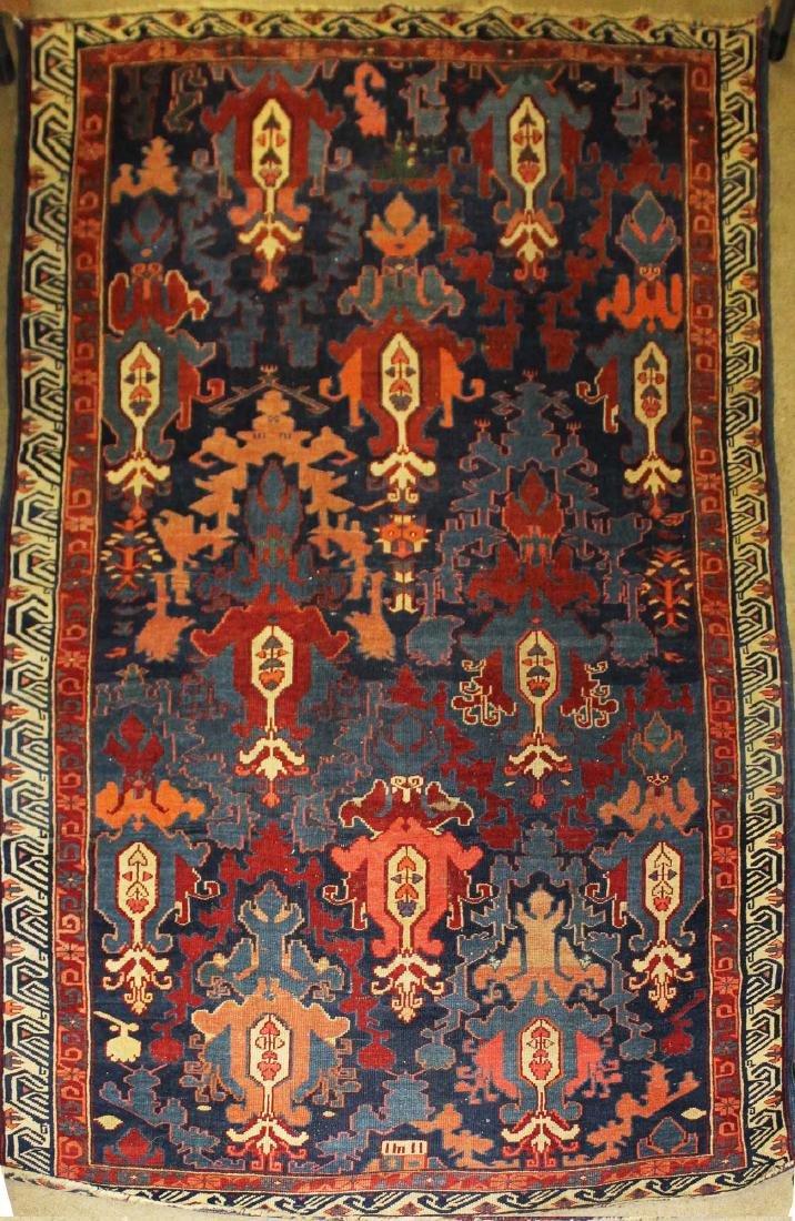 dated 1896 Kuba dragon carpet