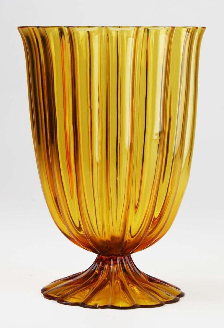 Josef Hoffmann Wiener Werkstatte art glass vase