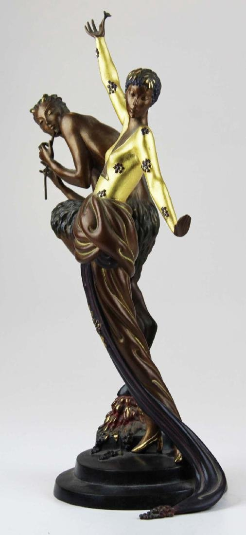 "Erte ""Woman & Satyr"" bronze sculpture - 2"