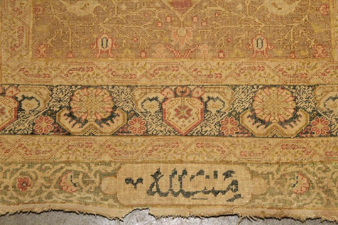 late 19th c Turkish Hereke silk runner - 2