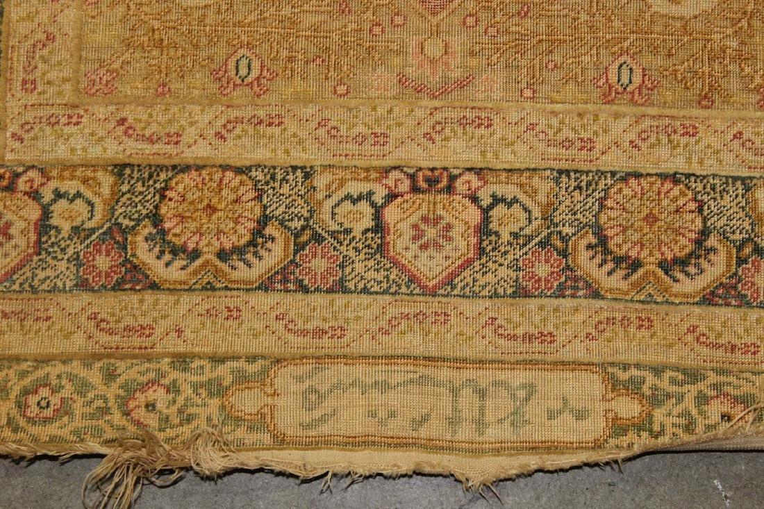 late 19th c Turkish Hereke silk runner - 3