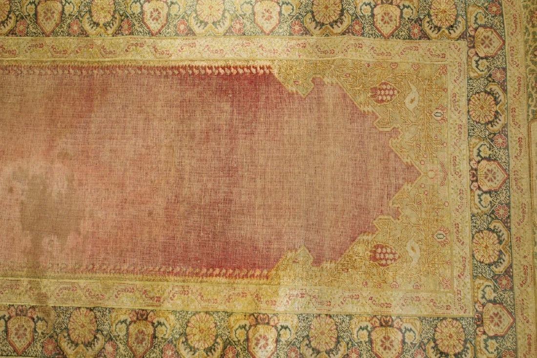 late 19th c Turkish Hereke silk runner - 4