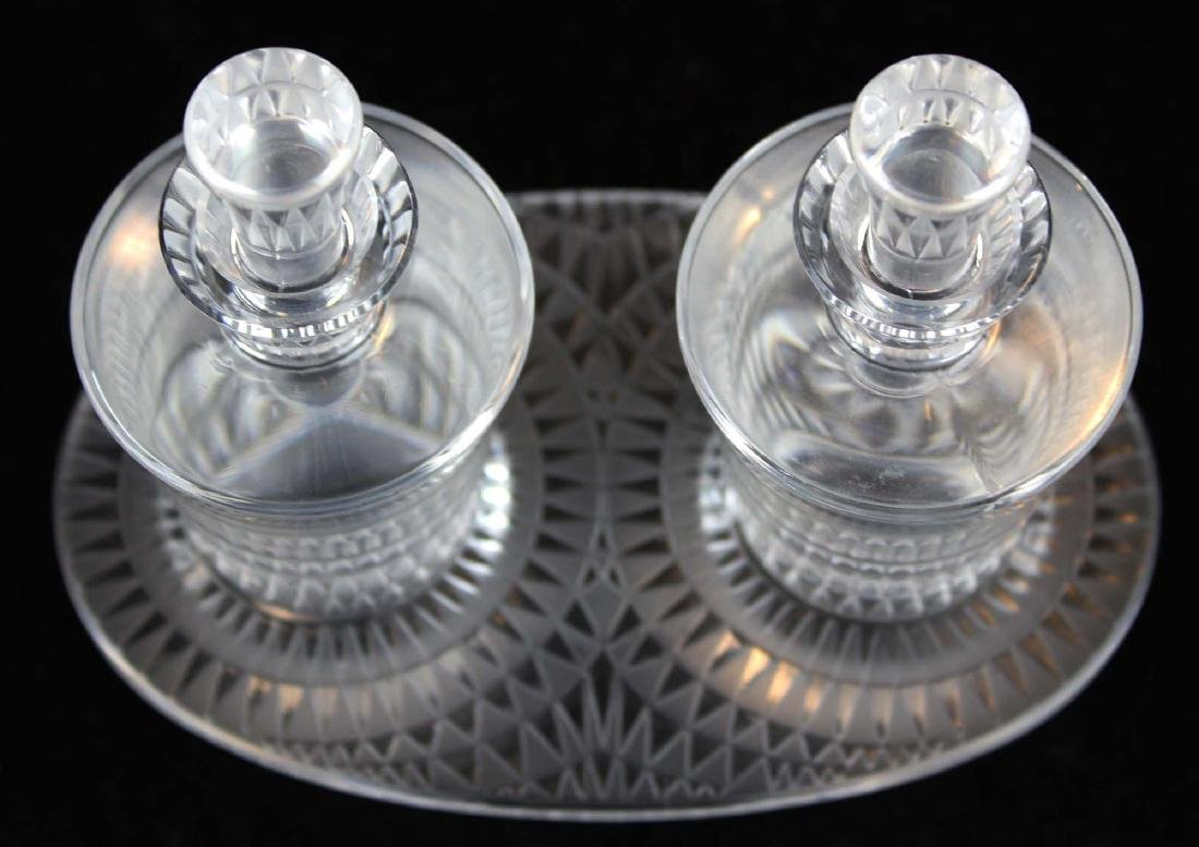 Lalique Bourgueil frosted crystal cruet set - 2