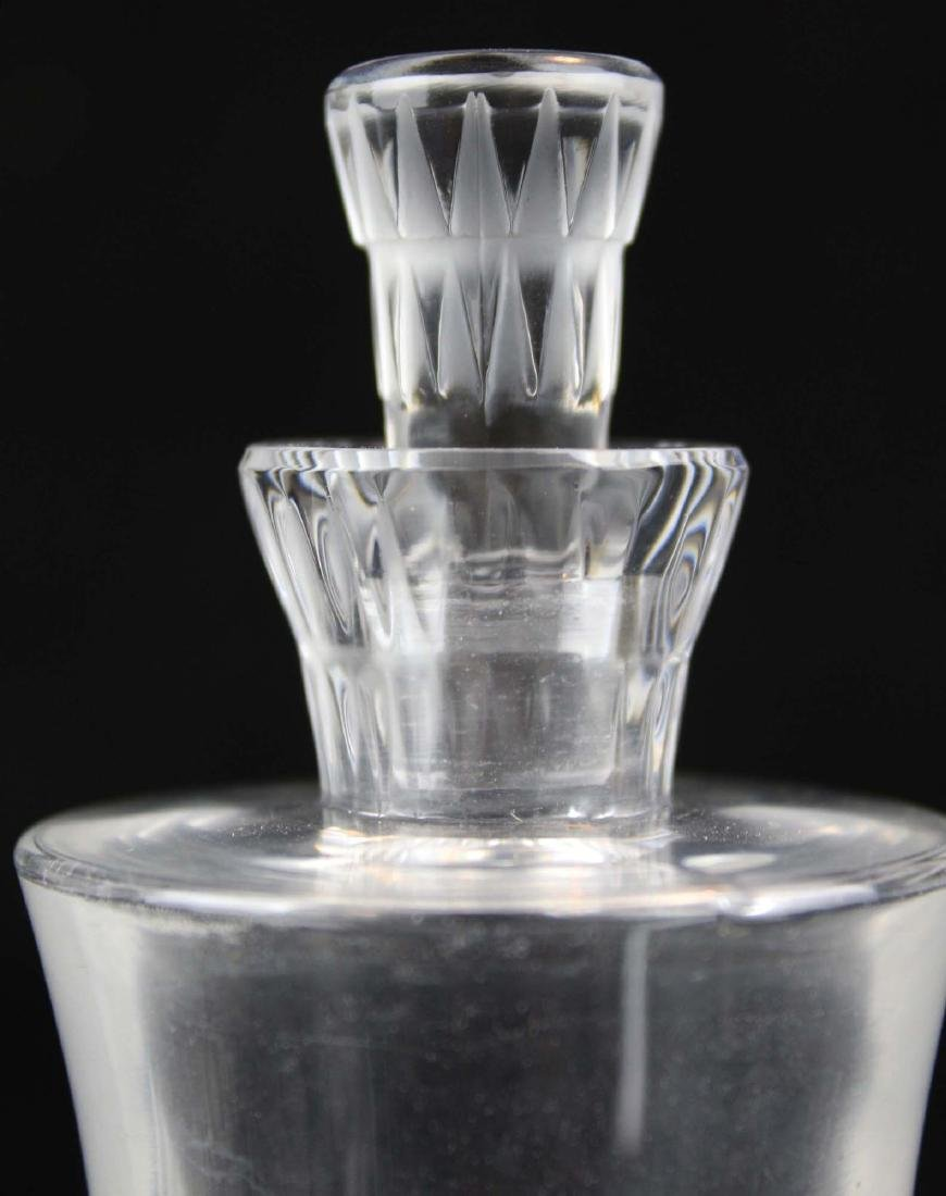 Lalique Bourgueil frosted crystal cruet set - 3