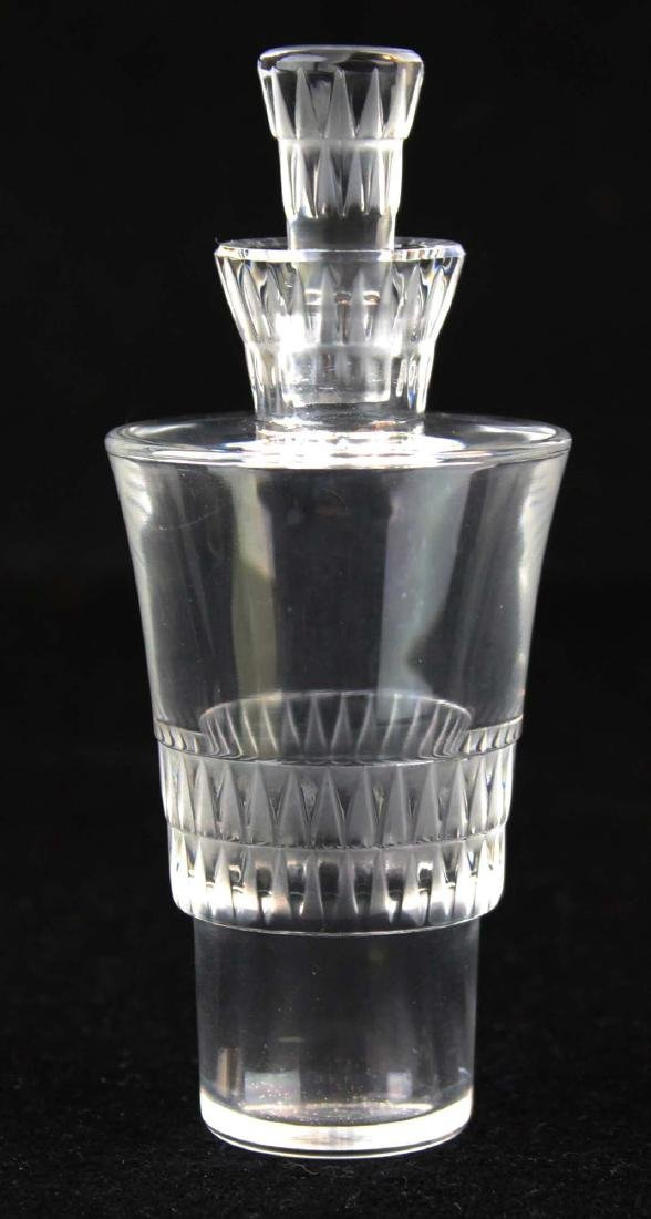 Lalique Bourgueil frosted crystal cruet set - 7
