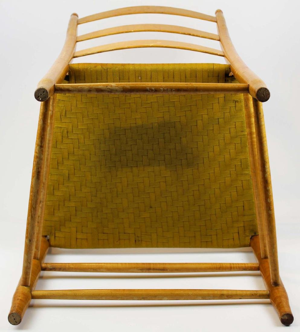 Shaker No. 5 curly maple ladder back arm chair - 5