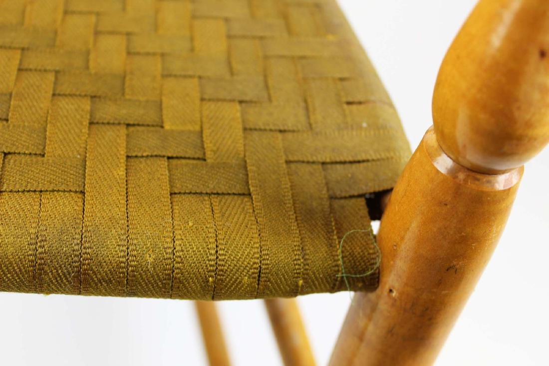 Shaker No. 5 curly maple ladder back arm chair - 8