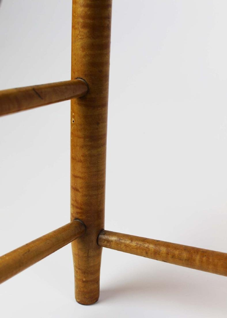 Shaker No. 5 curly maple ladder back arm chair - 9