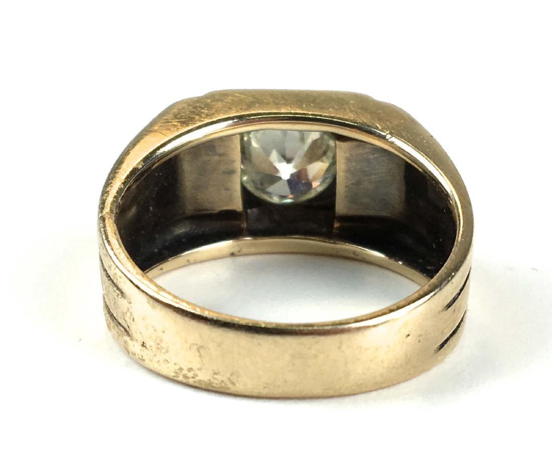 Men's 1.76 ct rd European cut diamond ring - 3