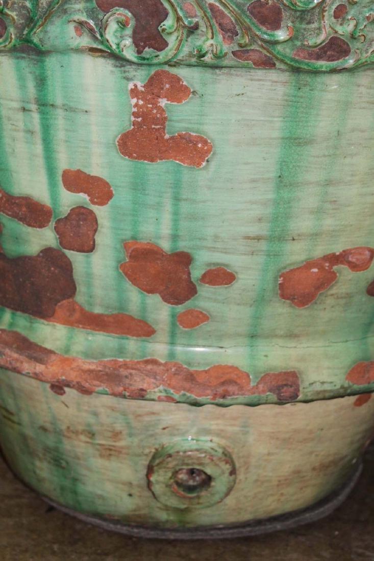 pair of monumental Italian majolica storage urns - 3