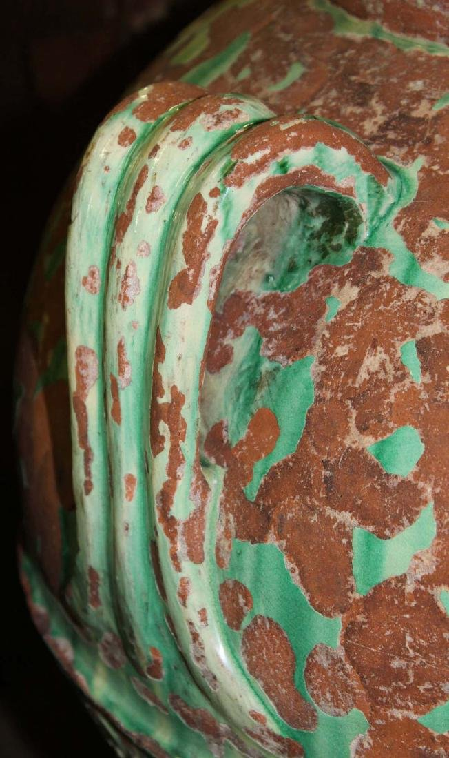 pair of monumental Italian majolica storage urns - 5