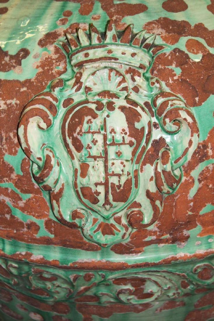 pair of monumental Italian majolica storage urns - 9