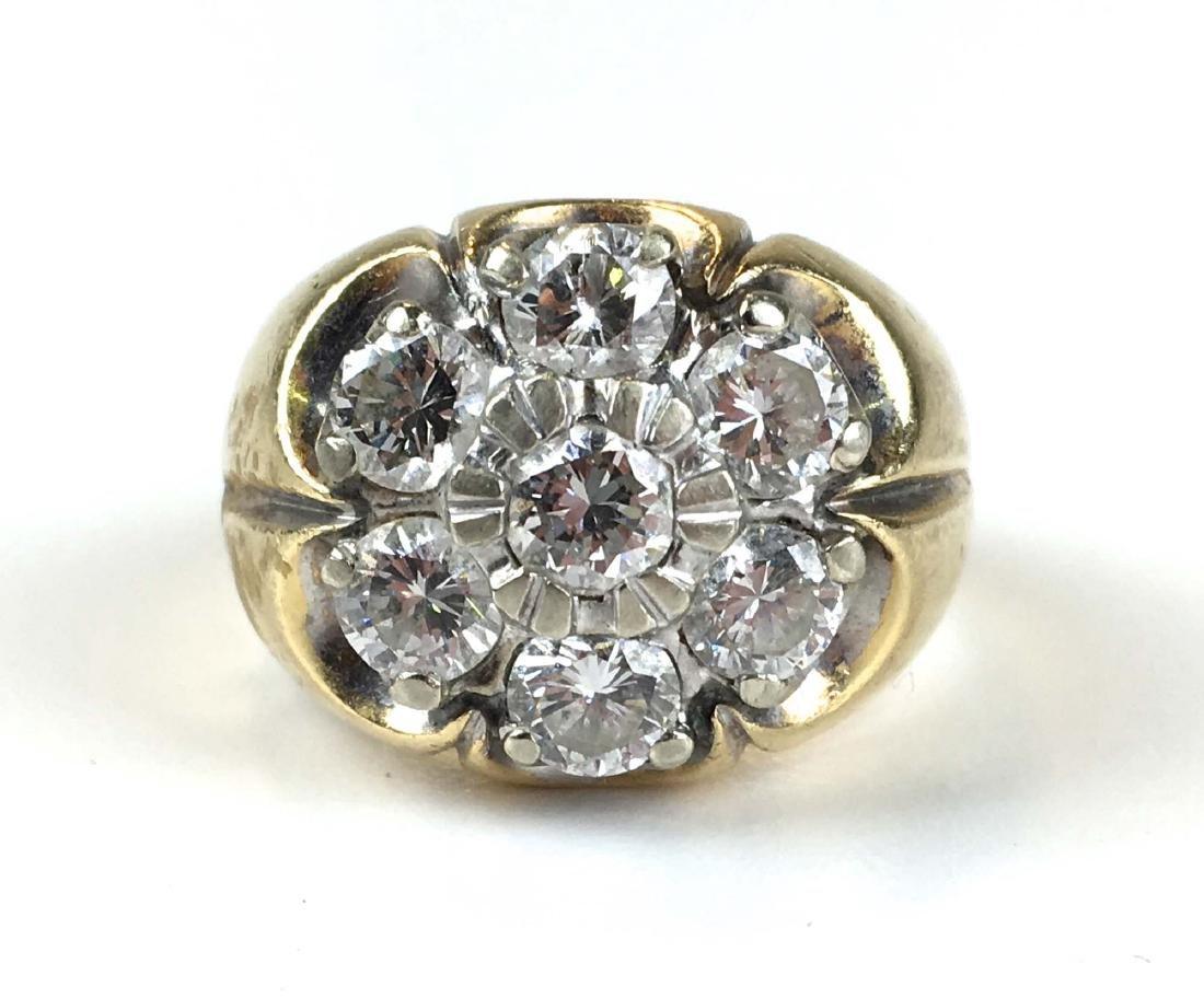 Men's heavy weight diamond & gold ring