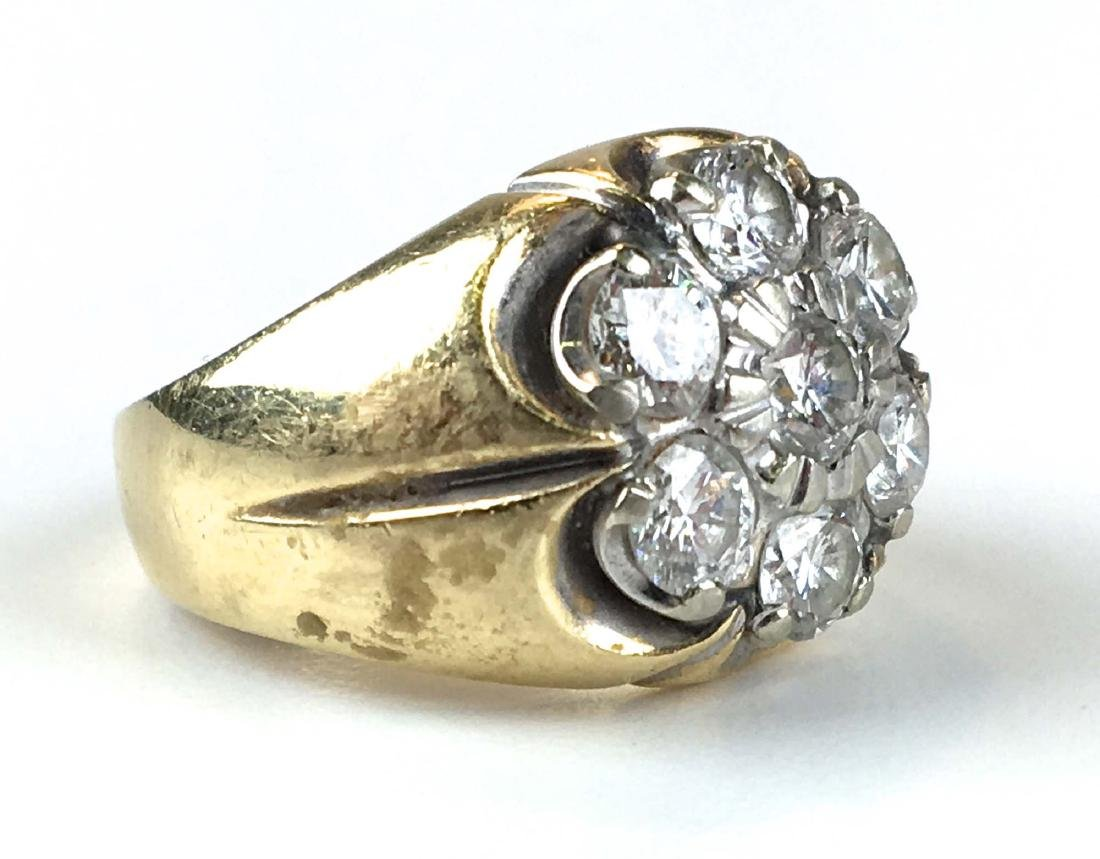 Men's heavy weight diamond & gold ring - 2