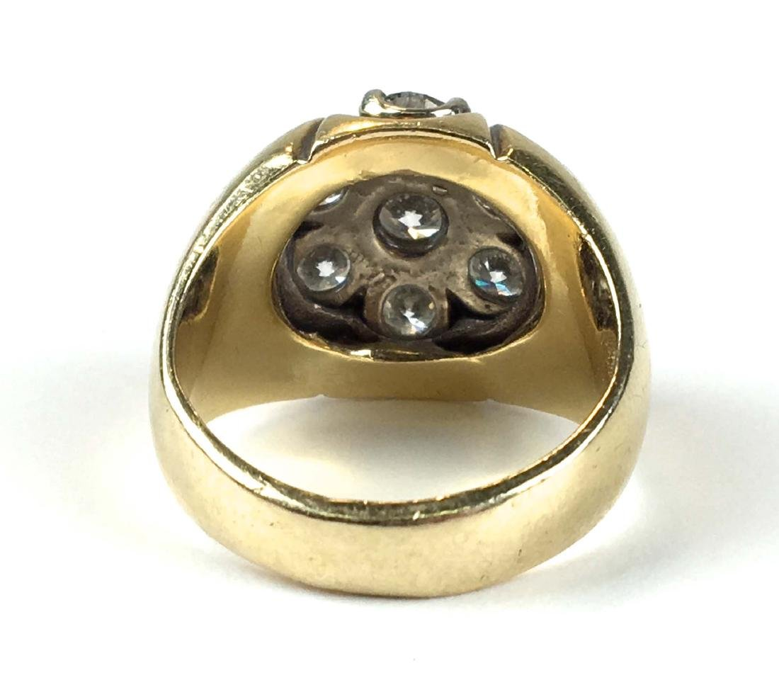 Men's heavy weight diamond & gold ring - 3
