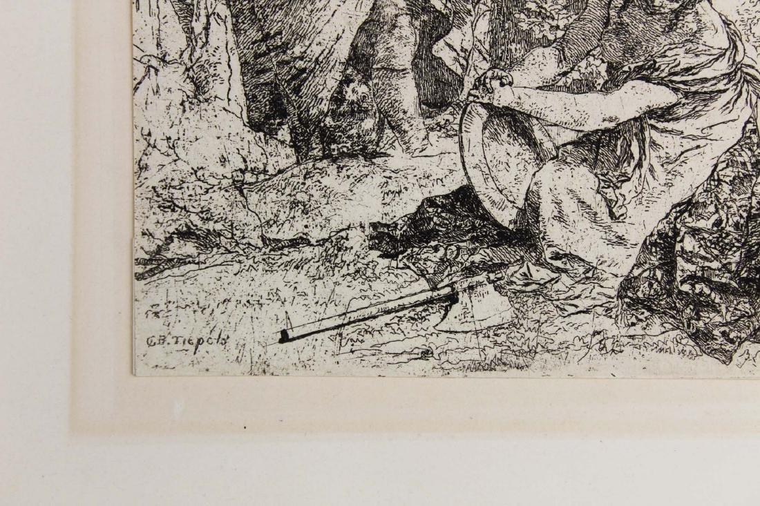 ca 1740 Giovanni Battista Tiepolo etching - 2