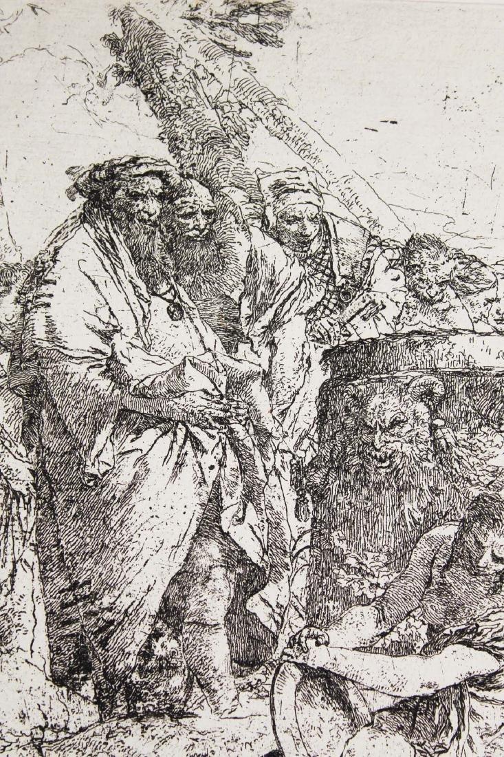 ca 1740 Giovanni Battista Tiepolo etching - 4