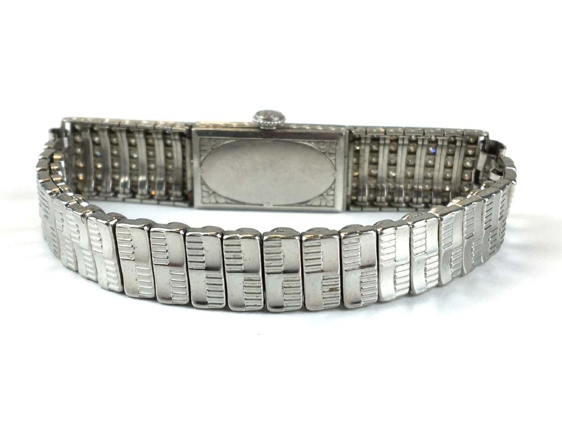 C H Meylan Swiss Art Deco platinum & diamond wrist - 2