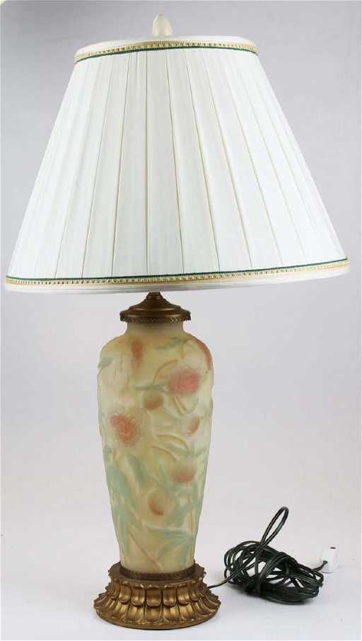 Glass Base Table Lamps Gorgeous Phoenix Consolidated Art Glass Base Table Lamp