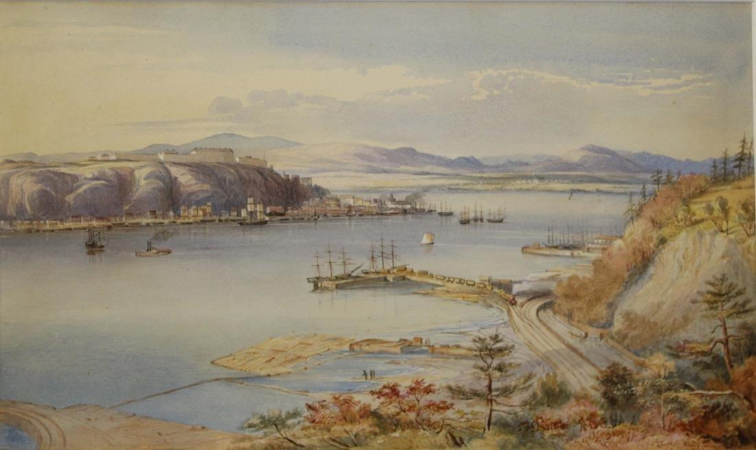 Alice M Killaly (CA 1836-1916) View of Quebec