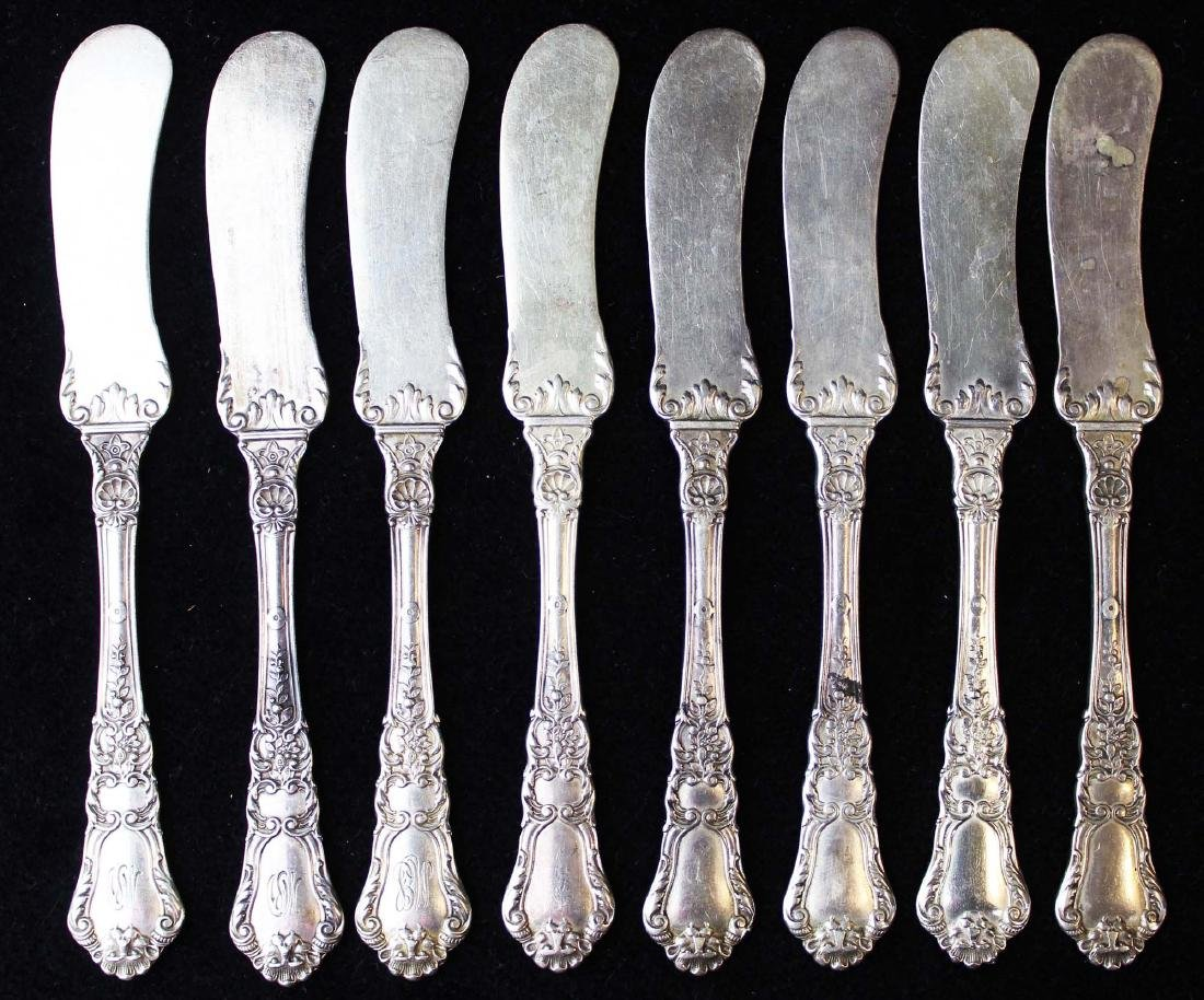 8 Gorham Baronial sterling butter spreaders