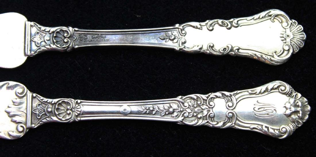 8 Gorham Baronial sterling butter spreaders - 2