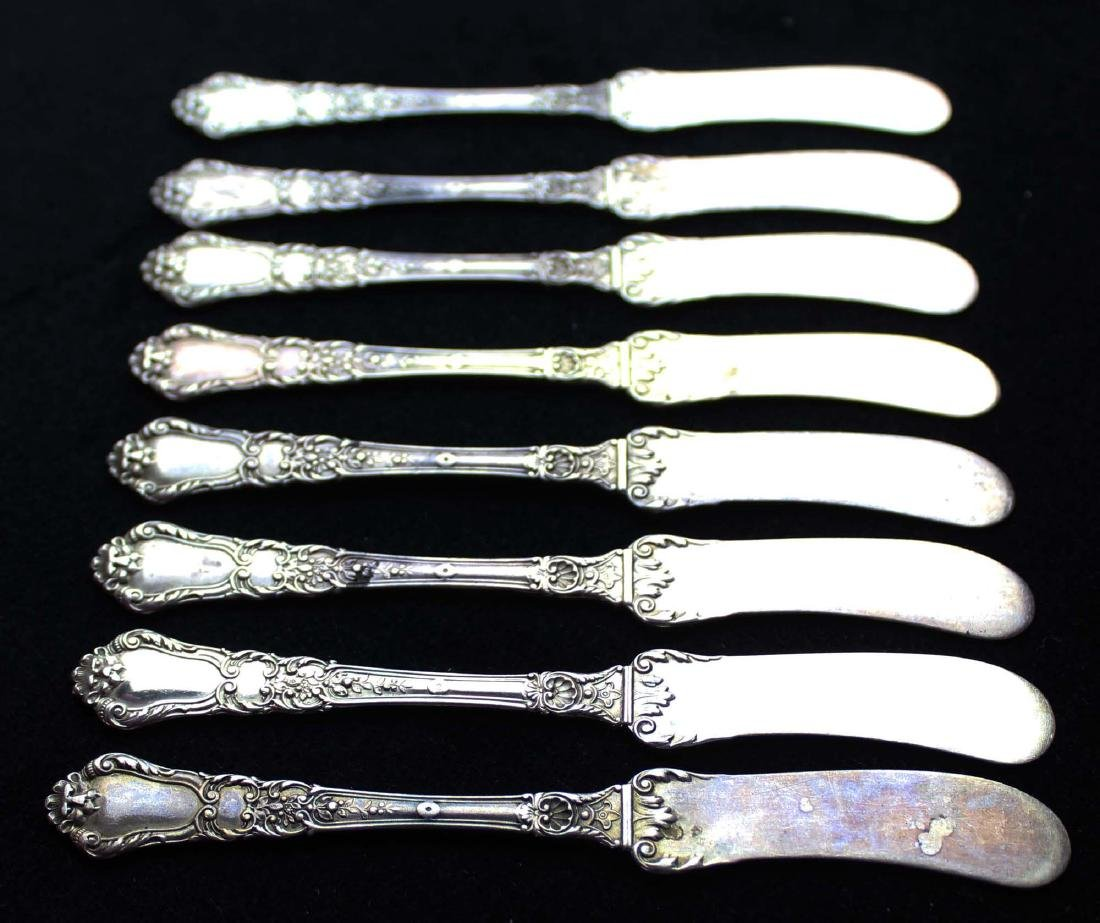 8 Gorham Baronial sterling butter spreaders - 3