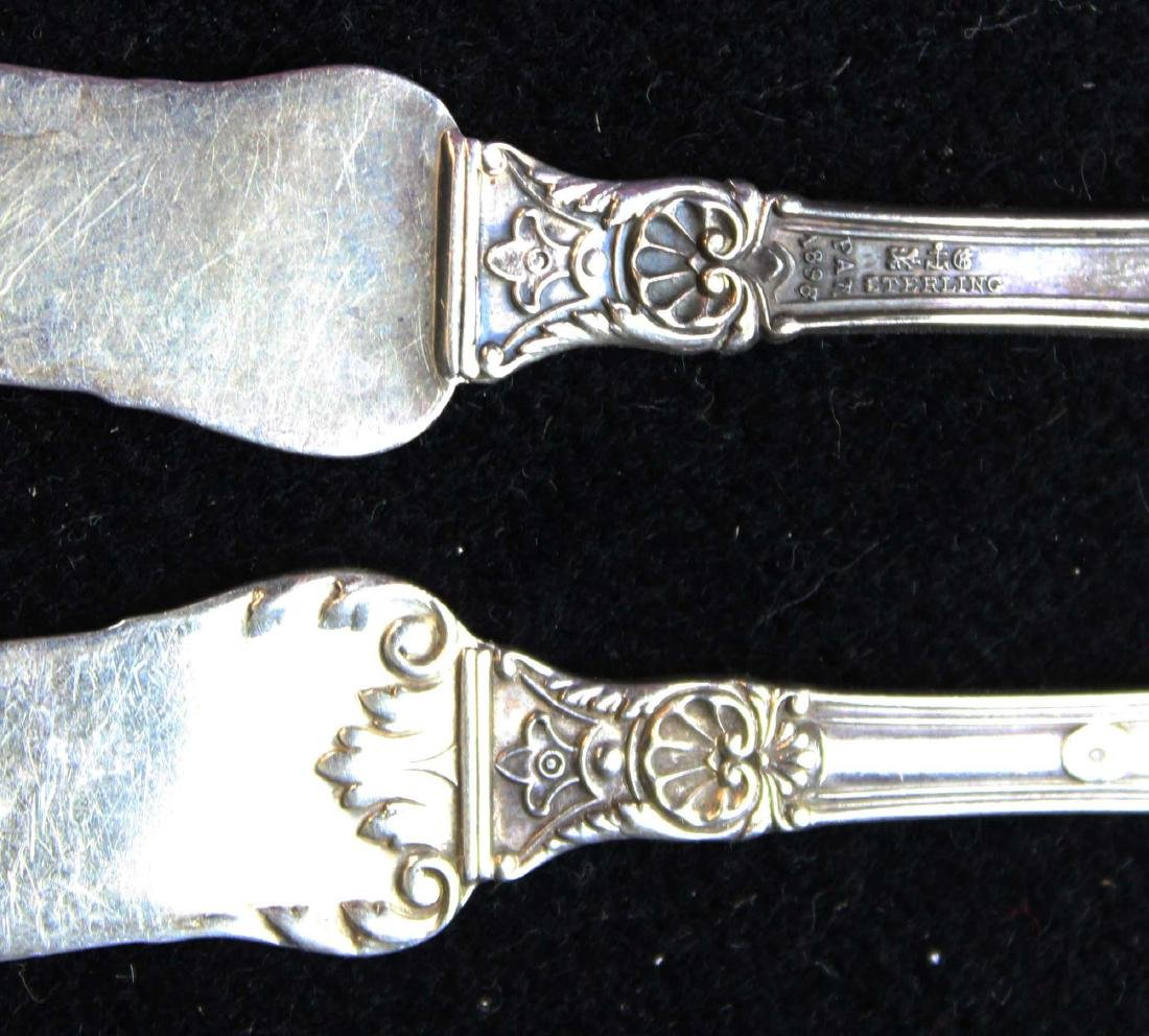 8 Gorham Baronial sterling butter spreaders - 4