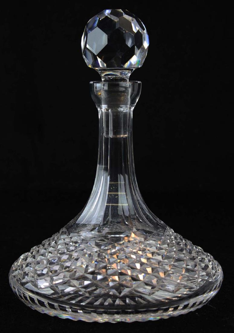 signed Waterford Alana crystal ships decanter