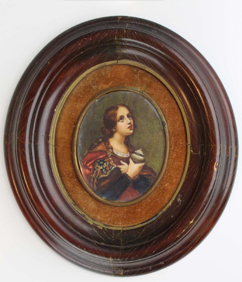 1900 Italian miniature portrait of Maddalena