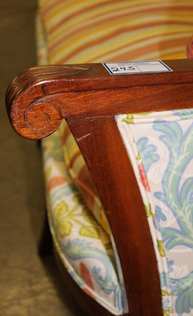19th c Louis XVI floral upholstered sofa - 3