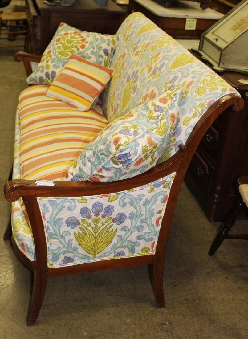 19th c Louis XVI floral upholstered sofa - 4
