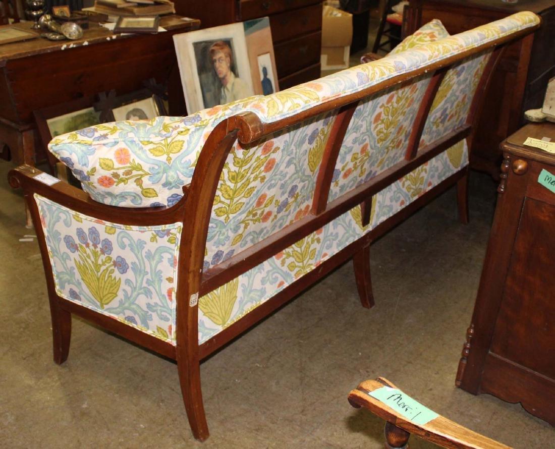 19th c Louis XVI floral upholstered sofa - 5