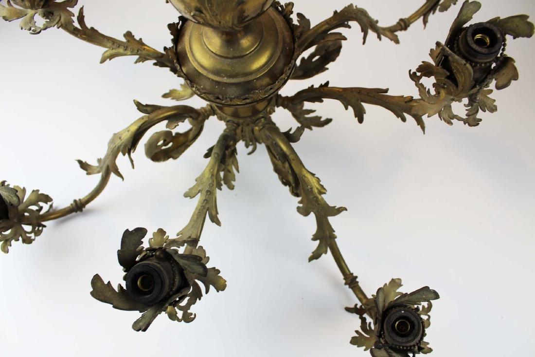 early 20th c brass eight light chandelier - 10