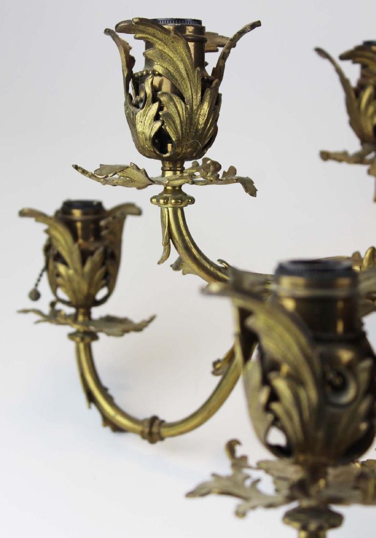 early 20th c brass eight light chandelier - 2