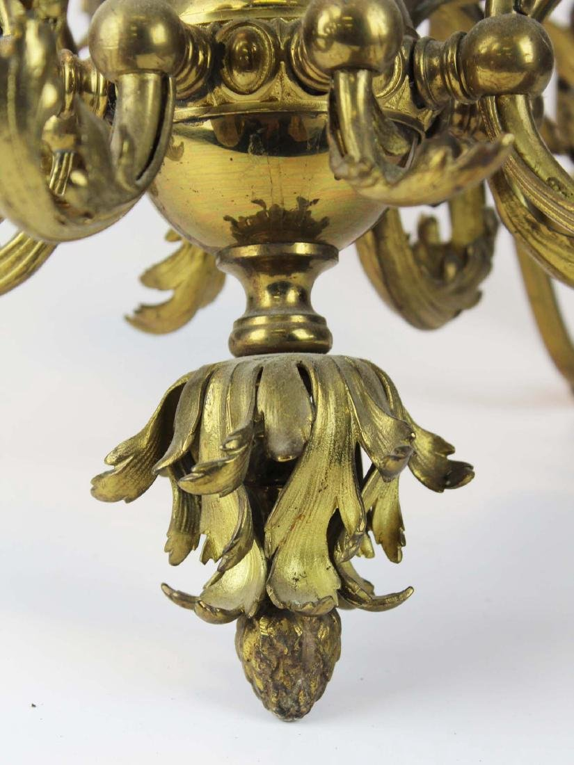 early 20th c brass eight light chandelier - 3