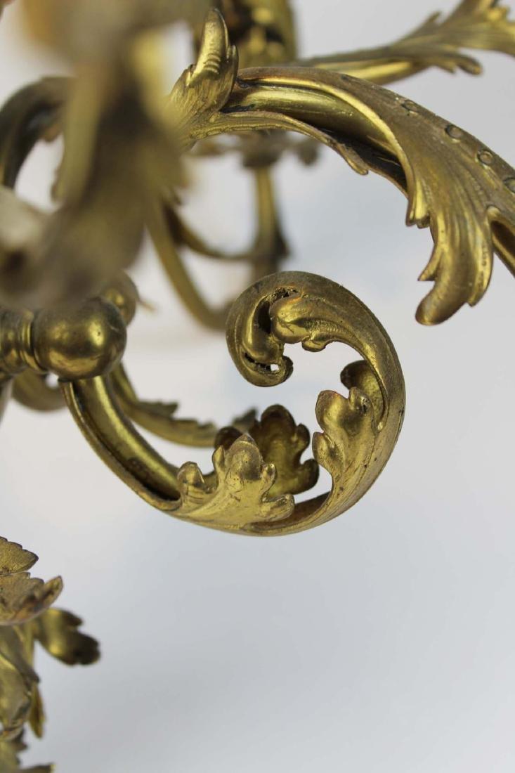 early 20th c brass eight light chandelier - 4