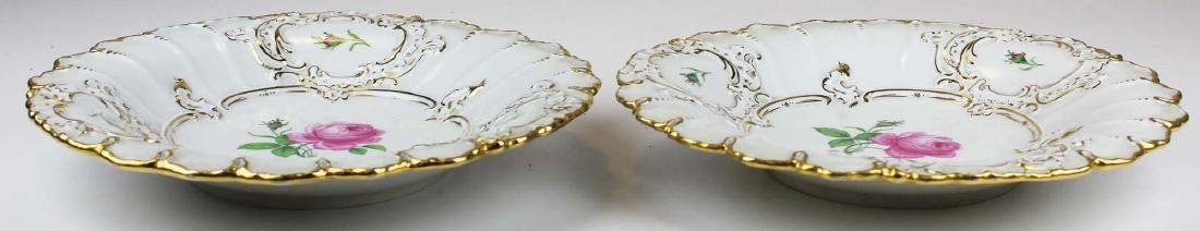 Pair of Meissen handpainted floral serving dishes - 2