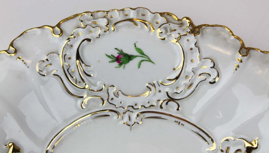 Pair of Meissen handpainted floral serving dishes - 4