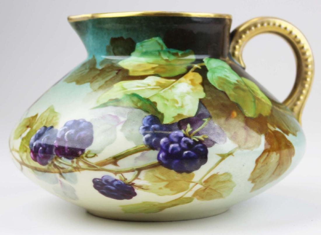 L. Pouyat Limoges artist  handpainted pitcher