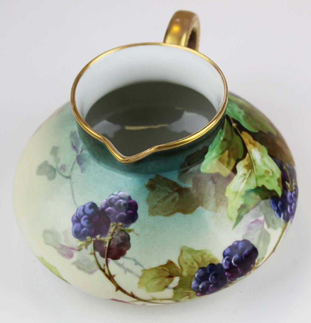 L. Pouyat Limoges artist  handpainted pitcher - 2