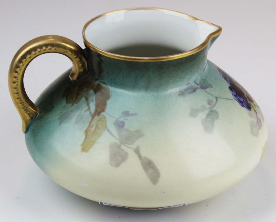 L. Pouyat Limoges artist  handpainted pitcher - 3