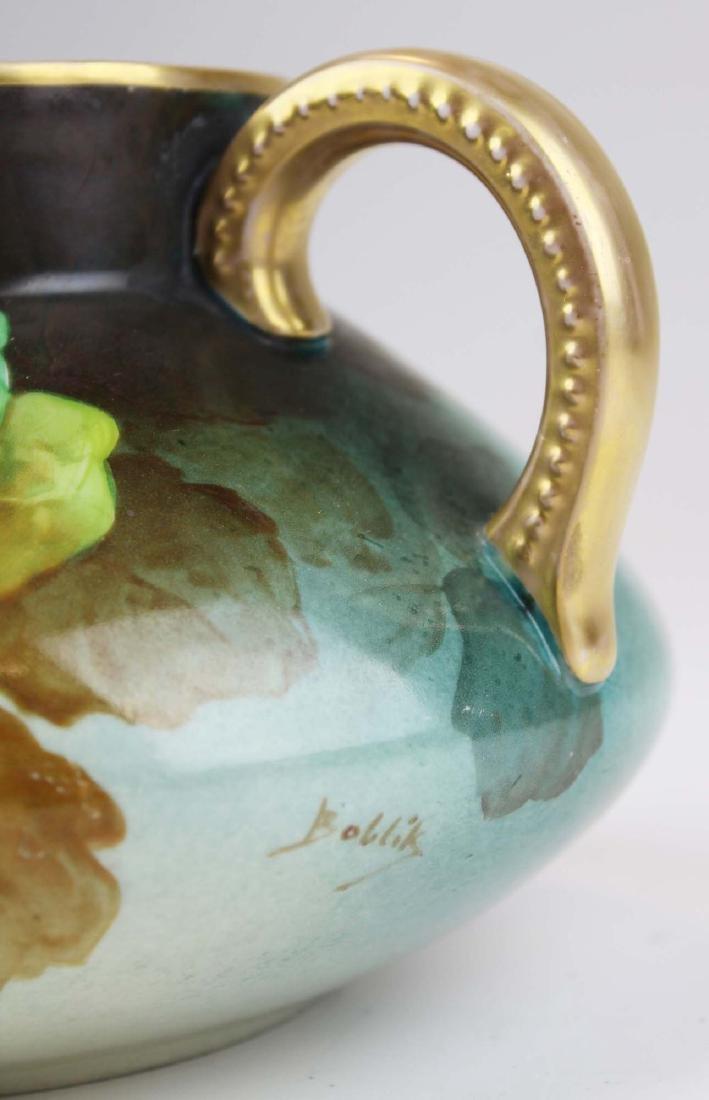 L. Pouyat Limoges artist  handpainted pitcher - 4